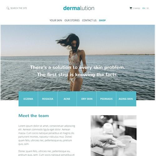 Dermalution: Skincare e-commerce