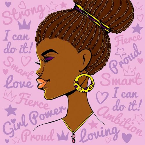 African American girl wall decor