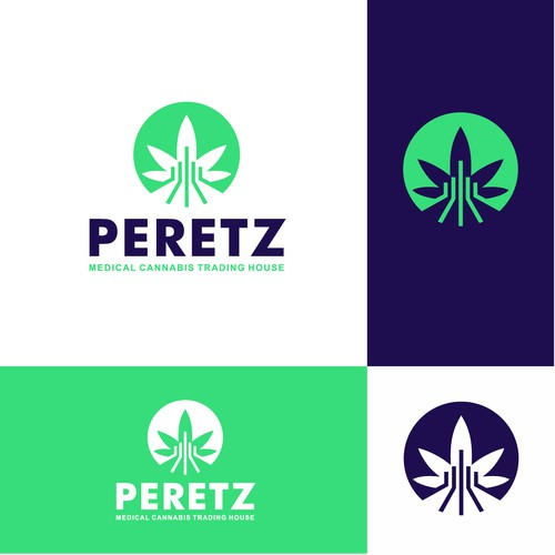 Logo for PERETZ-Medical cannabis trading house