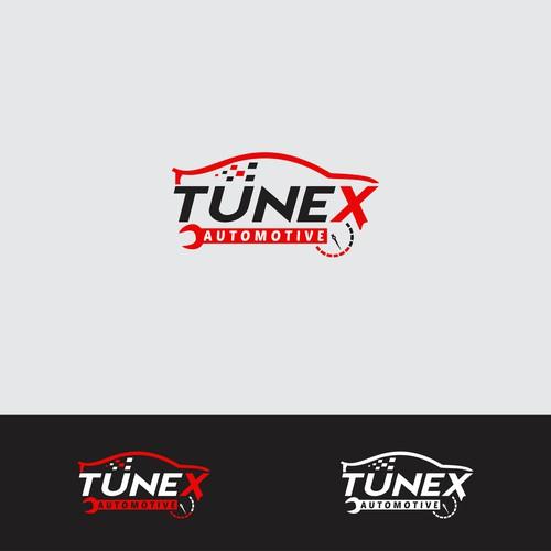 Red Car logo for modern car tuning company