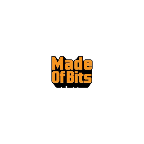 bold logo for made of bits