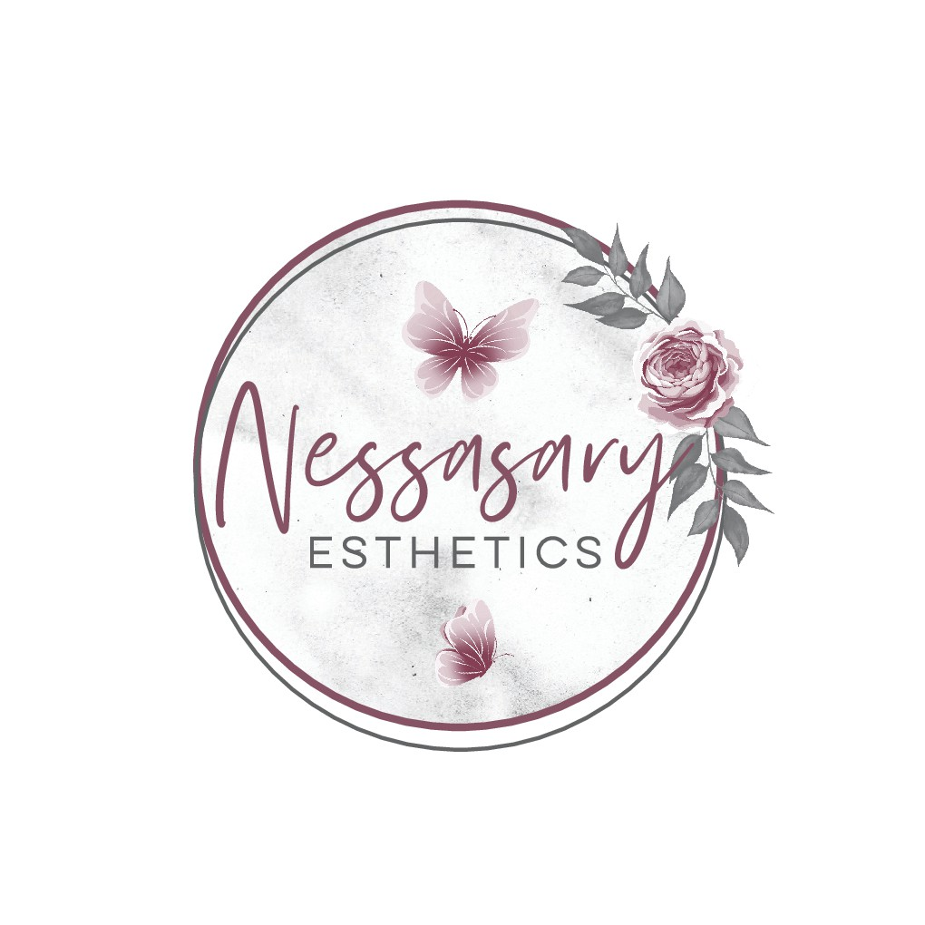 Mature Unique logo to attract women for full body waxing- muave/dusty rose, grays, black color palette - Nessasary Est