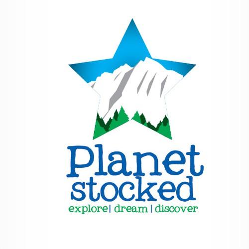 logo for Planetstoked; or PlanetStoked oder planetstoked.com....