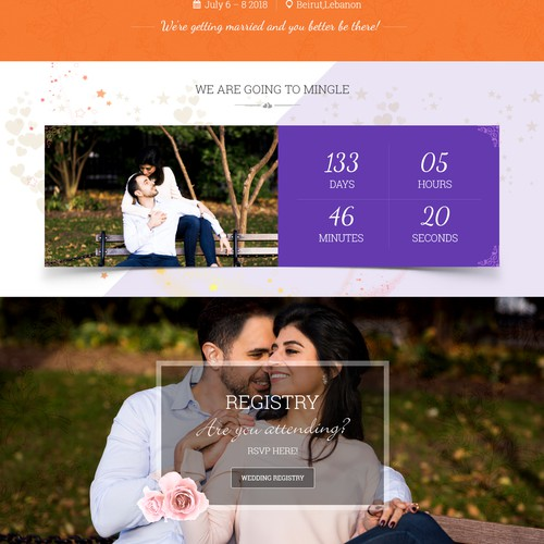 Cool, Fresh, Mediterranean Wedding Website