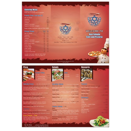 Pizzeria menu makeover
