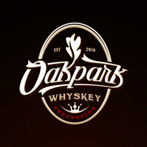 Custom font emblem logo