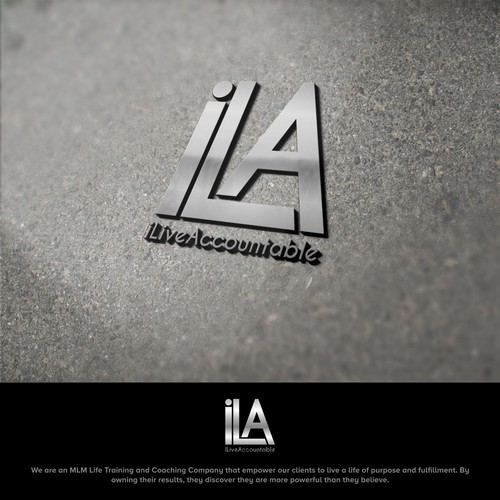 Logo design for the amazing Life Training Company: iLiveAccountable