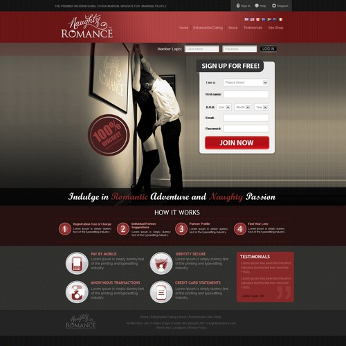 Home Page for Naughty Romance