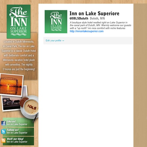 twitter background for Inn on Lake Superiore