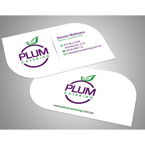 Create the next stationery for Plum Catering