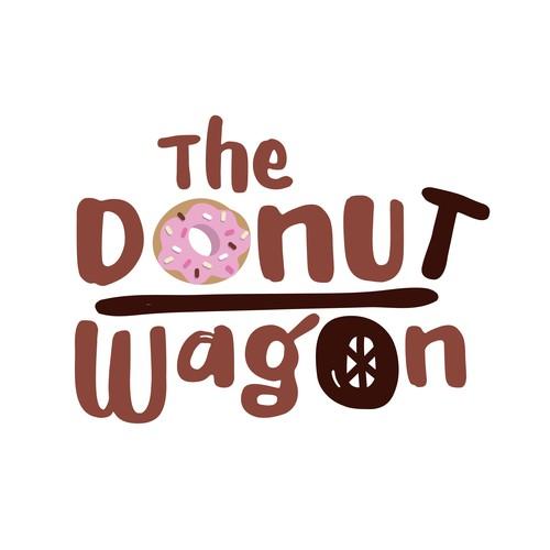 Playful Logo for a Donut Shop