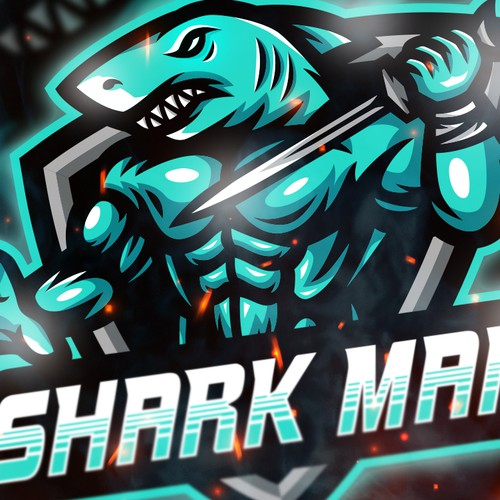 Shark Man Logo