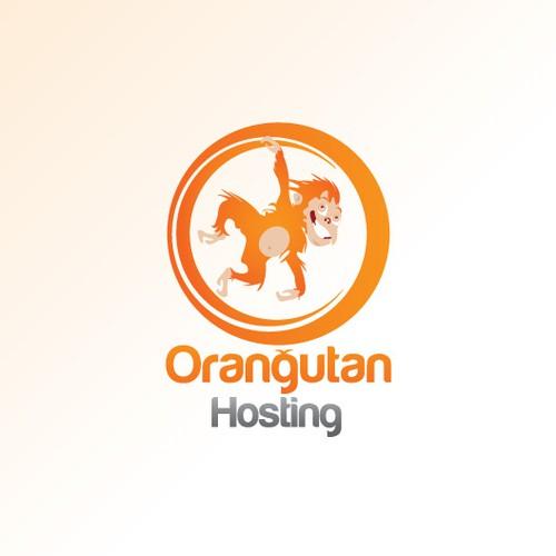 A hosting company logo concept