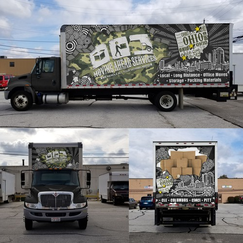MOVING AHEAD SERVICES wrap design