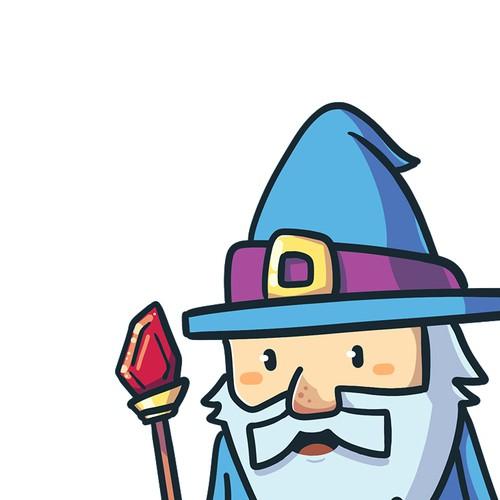 Wizard Character Mascot Design