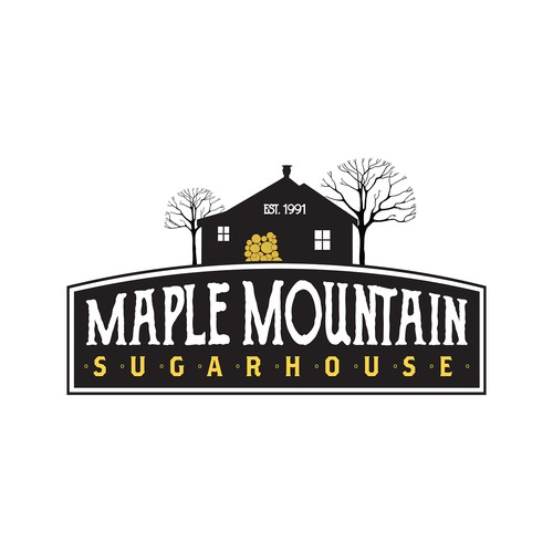 Logo concept for maple syrup