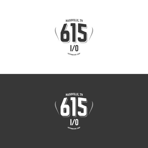 Create a logo for 615 I/0, a Nashville Software Dev Shop