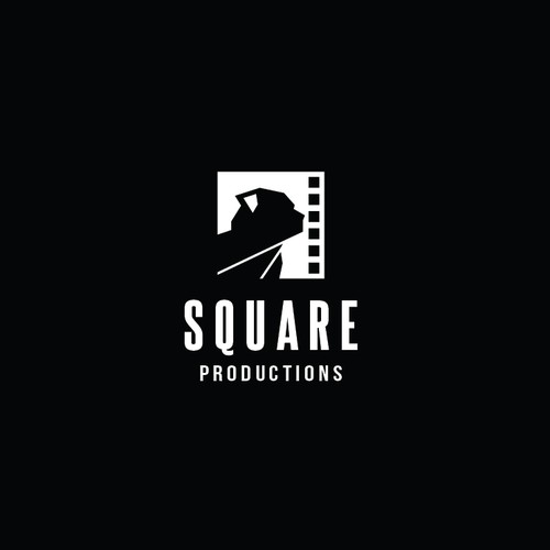 Simple, clean Geometric shape and Negative space logo style for Square Productions