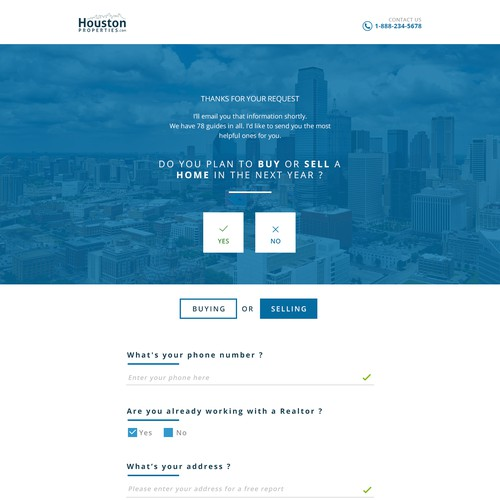 Post Sign-Up Landing Page