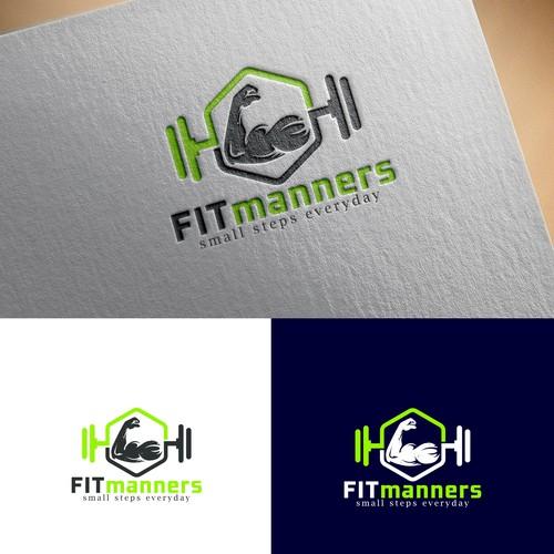 Minimalist fitness logo design