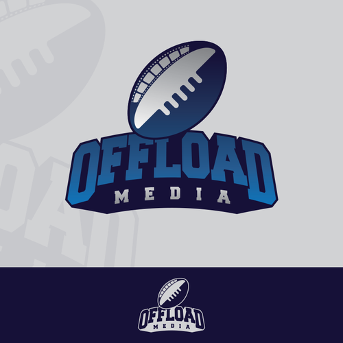 Create a smart looking rugby type logo for offload media
