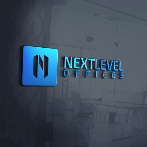 Modern N logo for Next Level Offices