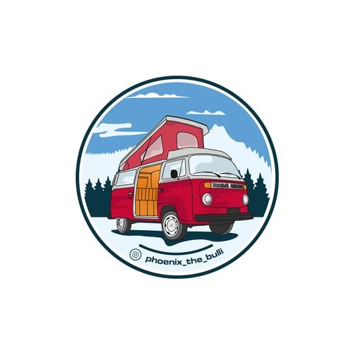 vw bus t2 logo