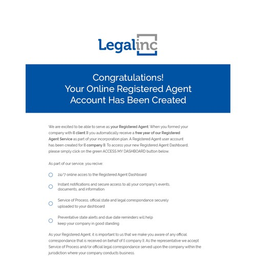 Legalinc Promotional Email Template 2