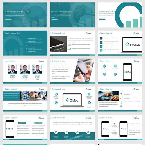 PowerPoint Template for QMobile
