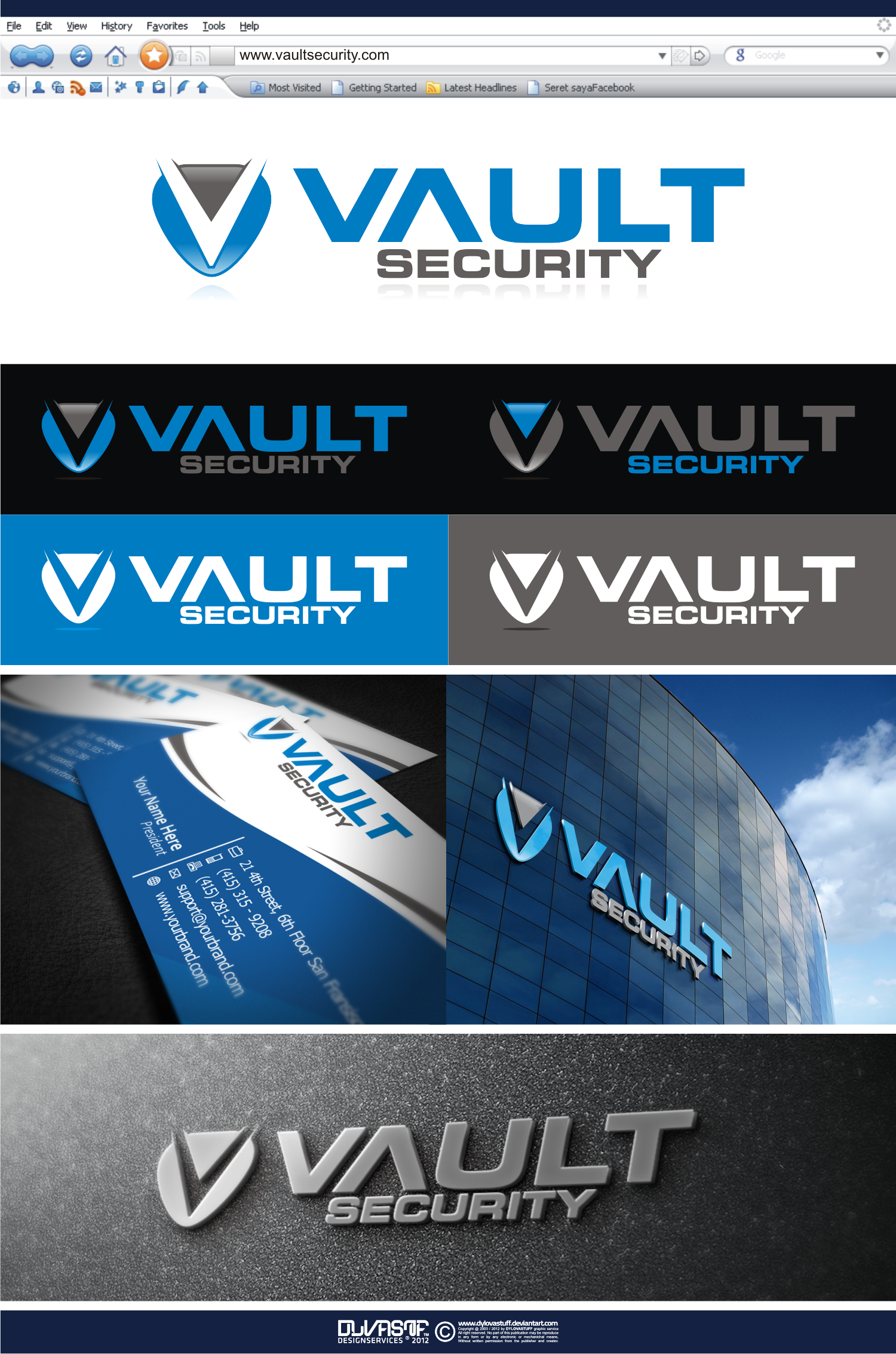 Create the next logo for Vault Security
