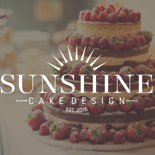 Sunshine Cake Design Logo Concept