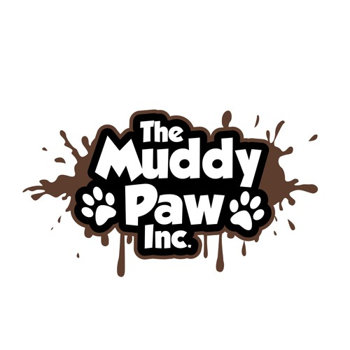 Playful Logotype for The Muddy Paw Inc.
