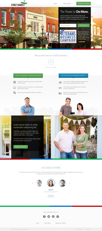 website design for StreetShares