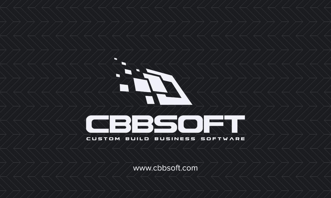 Create a business card design for software development company