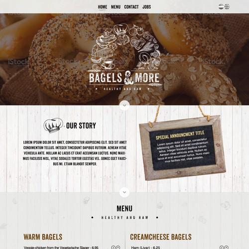 Website layout for bagels website