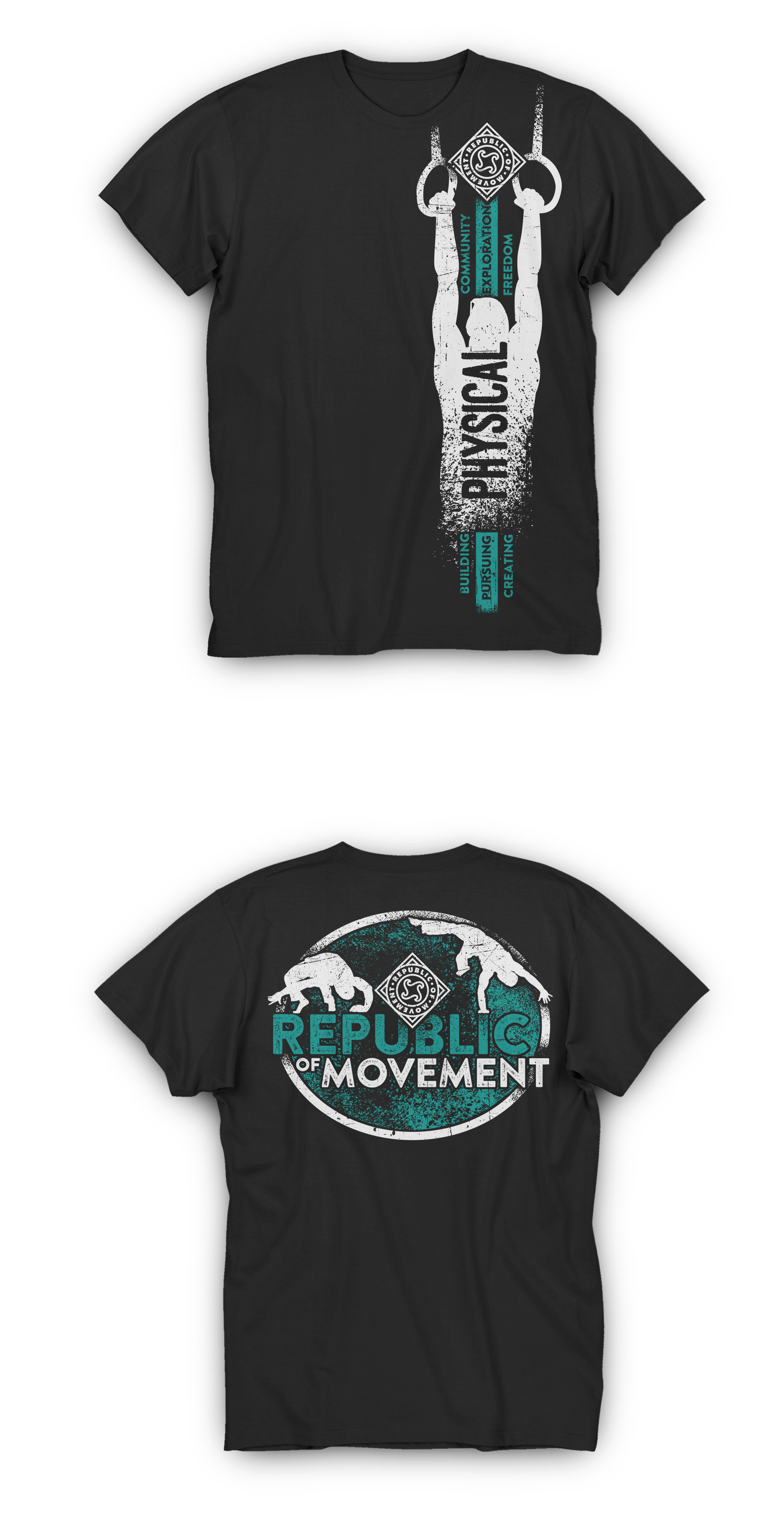 T-shirt design for the Republic Of Movement.