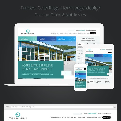 Homepage design for France Calorifuge