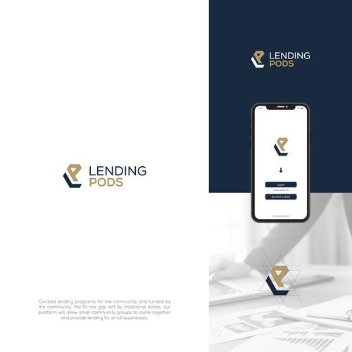 Design a sleek, powerful logo for a disruptive new lending platform