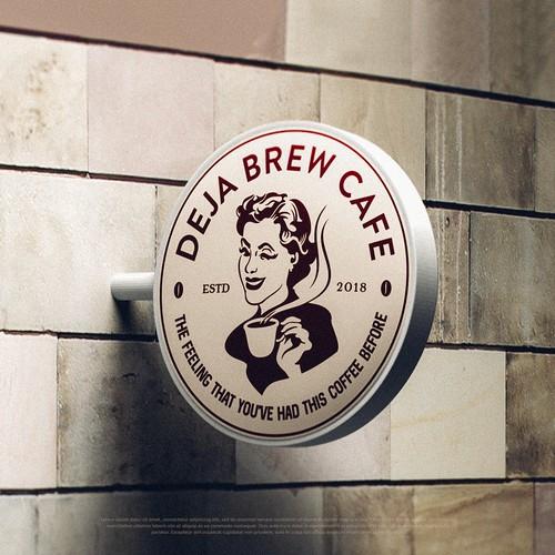 Deja Brew Cafe Logo