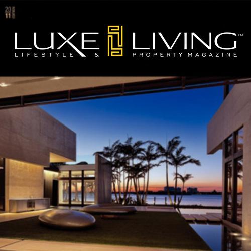 Luxury, modern logo for Luxe Living Magazine