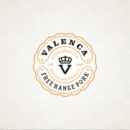 vintage logo for company is a manufacturer of meat