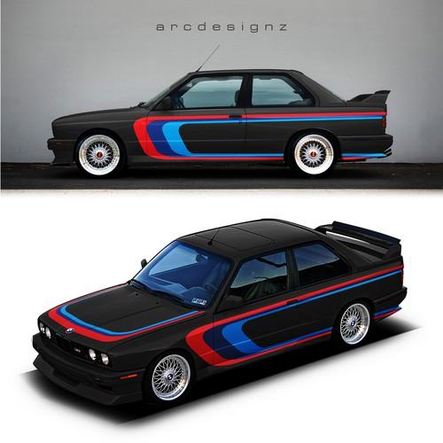 M stripes for E30 M3