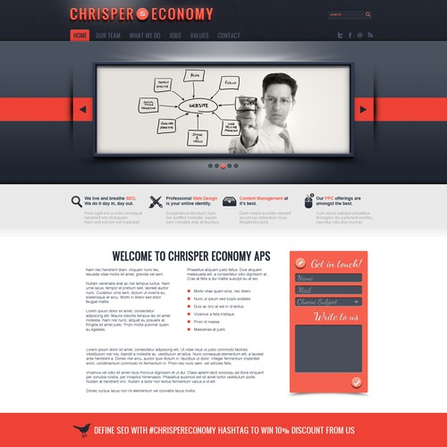 Landing Page Design for Chrisper Economy