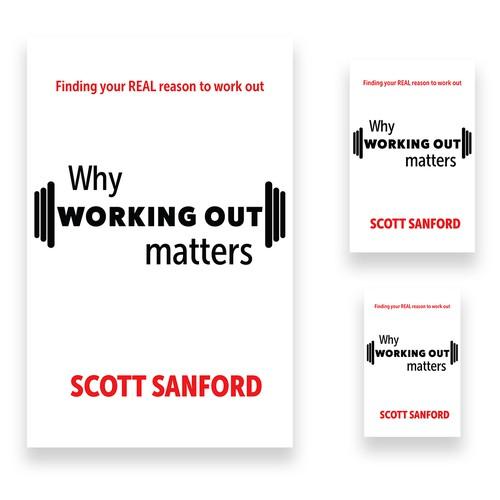 Minimalistic book cover design concept