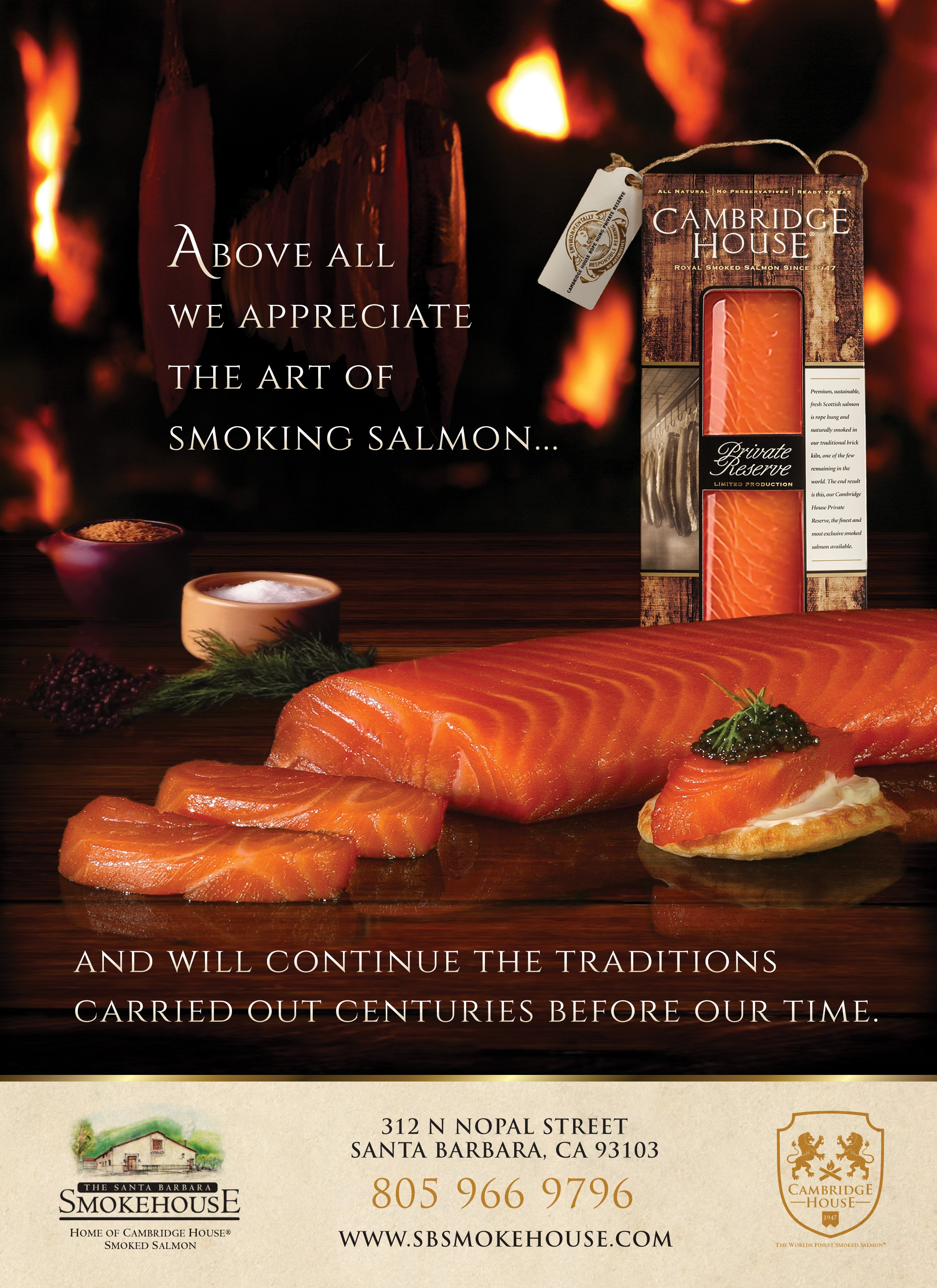Cambridge House Smoked Salmon Magazine Ad