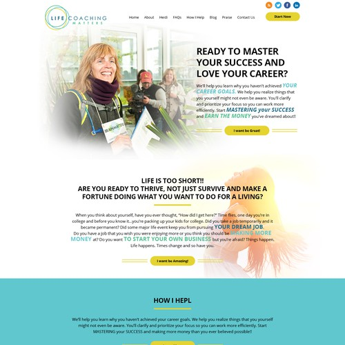 Design a Sophisticated Homepage for Business that helps people Master Their Success