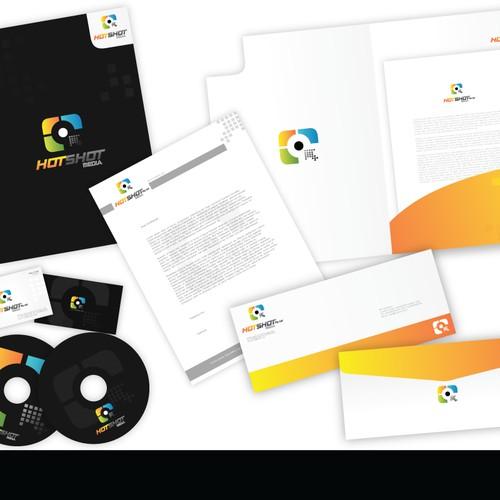 Hotshot Media (Online Media Company): Logo, Biz Card, Letterhead