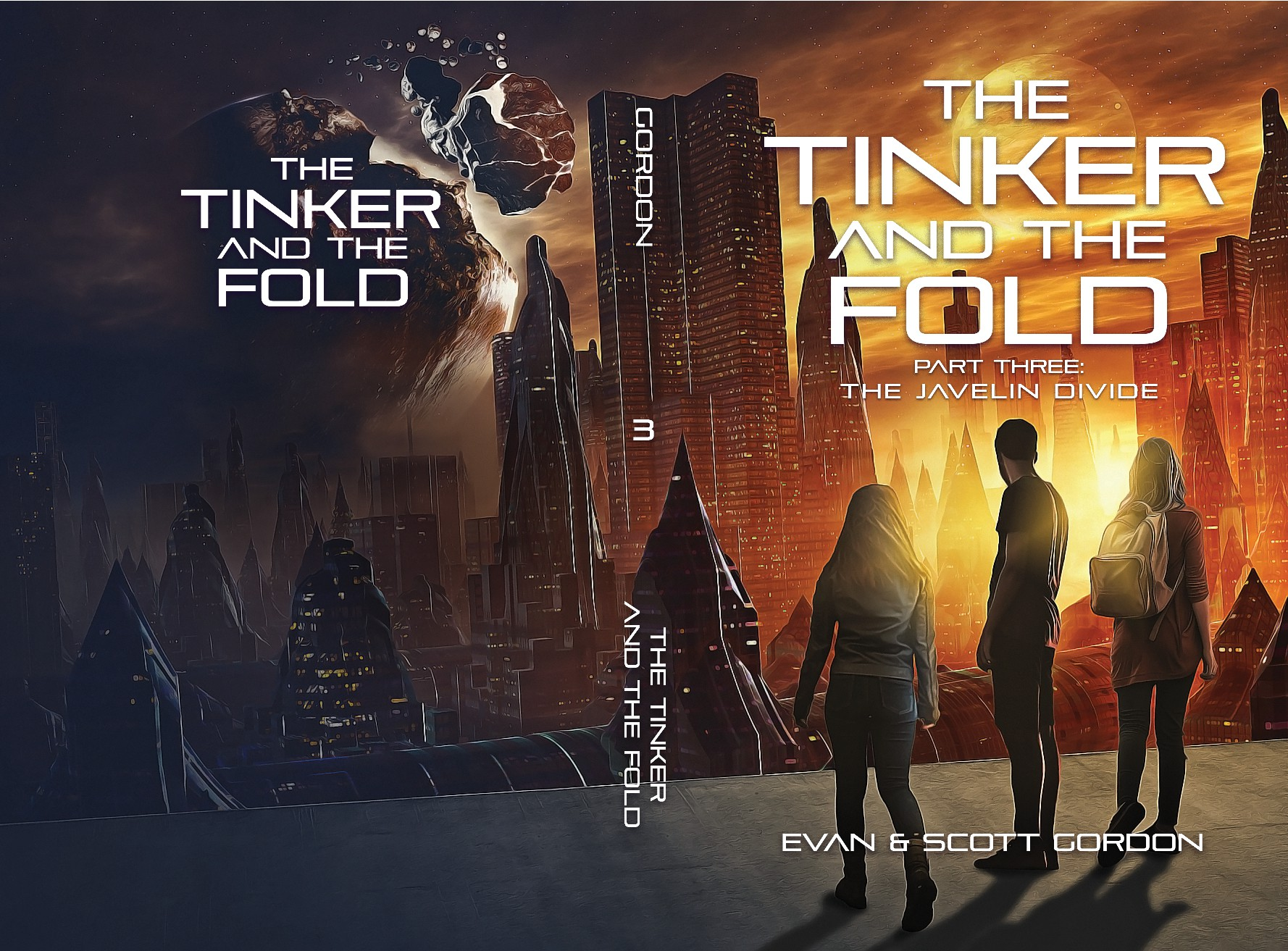 Father/Son Sci-fi writing team seeks cover for 3rd book