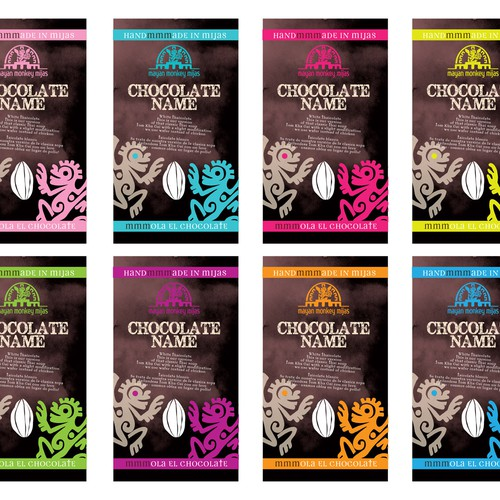 Mayan Monkey Mijas - Chocolate Factory - Product Packaging