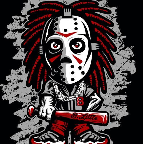 Hip artwork for T-shirt